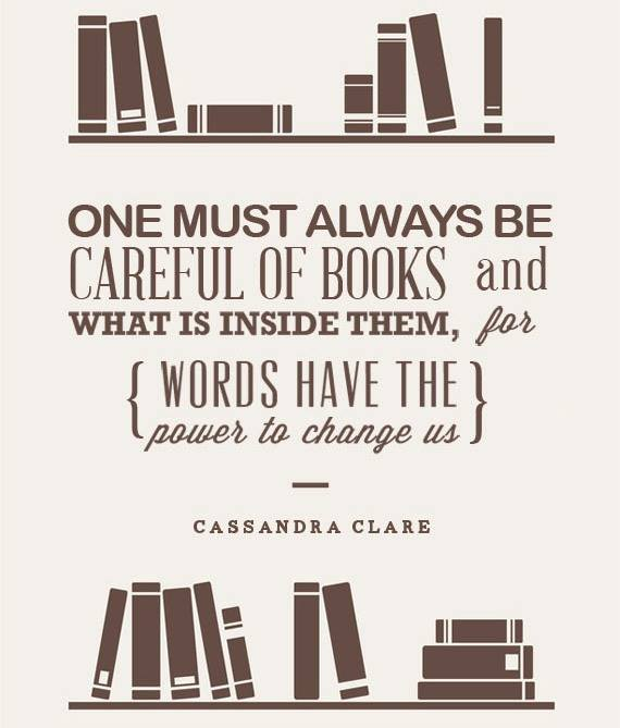 one must always be careful of books poster